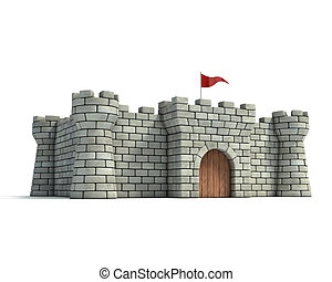 fort 3d illustration