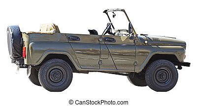 Military vintage cabriolet car