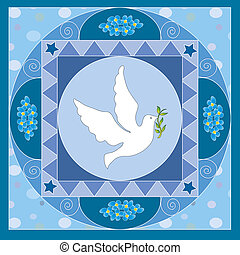 dove - Symbolic illustration for the first communion o...
