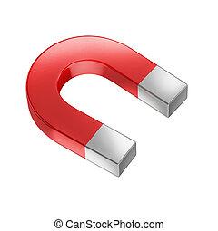 horseshoe magnet isolated on white  3d illustration