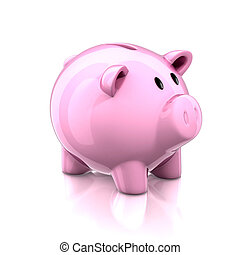 piggy bank 3d illustration
