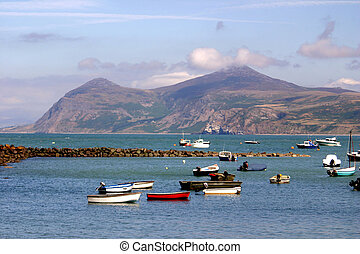 The harbour at Porth Dinlläen, North Wales. - The harbour at...
