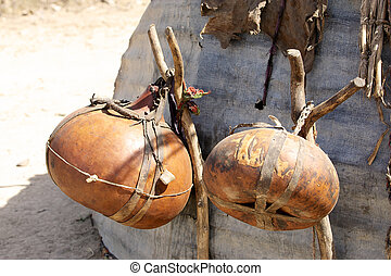 Water storage tank - Pumpkins used as water storage tank...