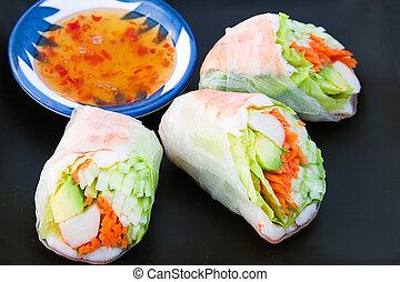 Sushi Spring Rolls