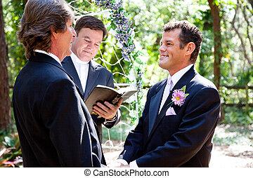 夫婦, 結婚, 快樂, 得到