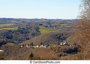 The village of Bar and the countryside of Correze, Limousin