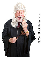 British Judge - Bored - Britiish style judge wearing a wig,...