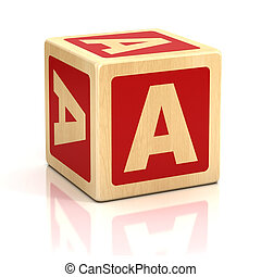 letter a alphabet cubes font - preschool, letter, alphabet,...