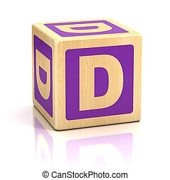 letter d alphabet cubes font - dice, preschool, isolated,...