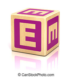 letter e alphabet cubes font - e, letter, preschool,...