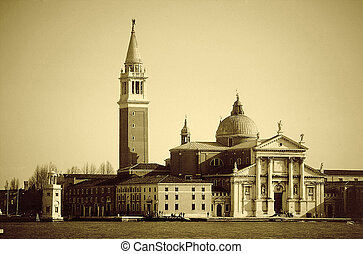 The church and campanile of San Giorgio Maggiore, Venice.