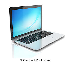 laptop notebook ultrabook isolated - laptop, notebook, 3d,...