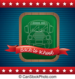 flag back to school - back to school over flag background...