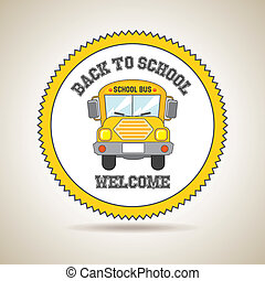 back to school icon over golden background vector...