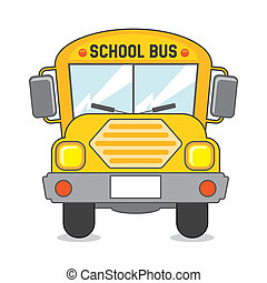 school bus icon over beige background vector illustration