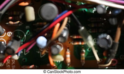 Close-up of computer circuit boards