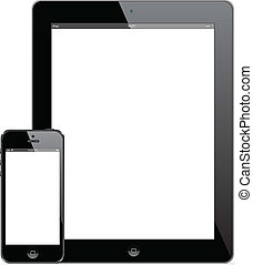 IPad 4 and iPhone 5 - Illustration of New iPad 4 and iPhone...