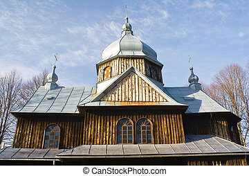 An old Orthodox church in Chmiel, Bieszczady Mountains