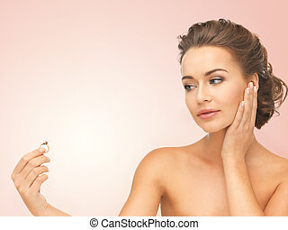 woman with wedding ring - beautiful woman looking at wedding...