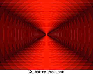 Illusion - Abstract background in Red