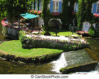 Watter mill, Village Brantome on Dronne river
