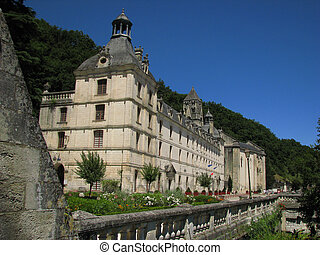 Abbey, Village Brantome on Dronne river