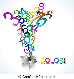 Color background. Numbers