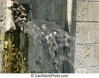 Fountain, Village Brantome on Dronne river