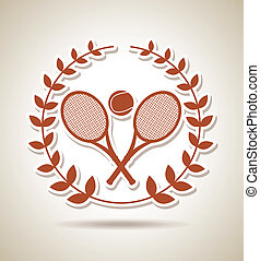 tennis championship over vintage background vector...