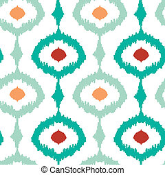 Colorful chain ikat seamless pattern background - Vector...