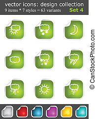 Modern set of design elements 4 Vector icons collection with...