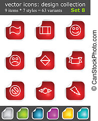 Modern set of design elements 8 Vector icons collection with...