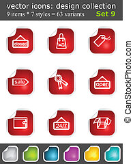 Modern set of design elements 9. Vector icons collection...