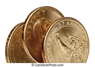 American Coins Over White