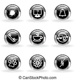 Glossy icon set - Set of 9 glossy web icons set 26 Black...