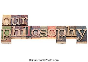nuestro, filosofía, tipo, madera