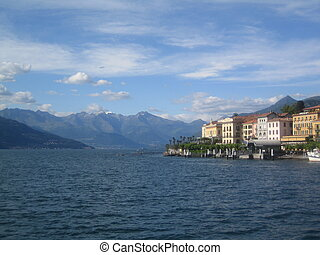 varenna, como lake - view of varenna on como lake, italy