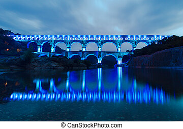 The Pont du Gard, southern France, Europe. - The Pont du...