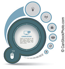 Circle with icon - Can use for brochure and business project...
