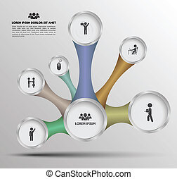 Circle relationship with icon - Can use for brochure and...