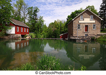 Historical Industrial Complex - Dam, Sawmill and Gristmill -...