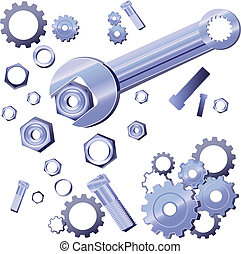 Wrench Screw Gear Set - Repairing Set