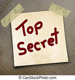 packing paper - text top secret write on paper on the...