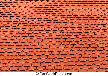 New red roof tiles for protection of the weather