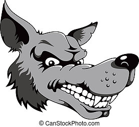 Wolf, cartoon vector illustration