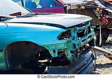 The car accident where the damage was huge - The car...