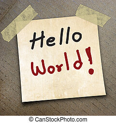 packing paper - text hello world the packing paper box...