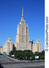 High building in Moscow.