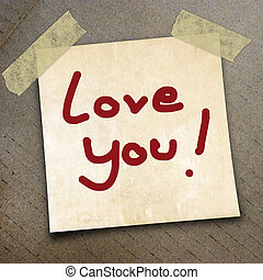 packing paper - text love you the packing paper box texture...