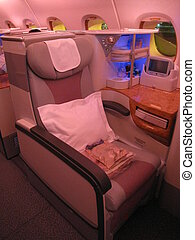 A380 Flight Business Class Seat - Emirates Airlines A380...